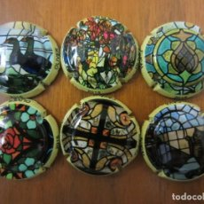 Coleccionismo de cava: LOTE DE 6 PLACAS CHAPAS DE CAVA-DUCAL OLIVER-VIDRIERAS CATALOGADAS XAPES NET. Lote 158906590