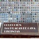 Coleccionismo de cava: LOTE COLECCIÓN DE 144 PLACAS DE CAVA TODAS DISTINTAS PLACA EN HOJAS Y ALBUM VER FOTOGRAFIAS. Lote 67999961