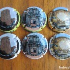 Coleccionismo de cava: LOTE DE 6 PLACAS CHAPAS DE CAVA-TROBADA SAN FELIU DE GUIXOLS FEBRERO 2019. Lote 175562217