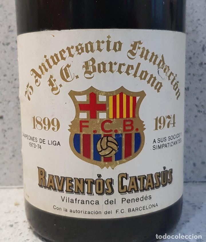Coleccionismo de cava: BOTELLA DE CAVA 75 ANIVERSARIO FUTBOL CLUB BARCELONA - Foto 2 - 166955804