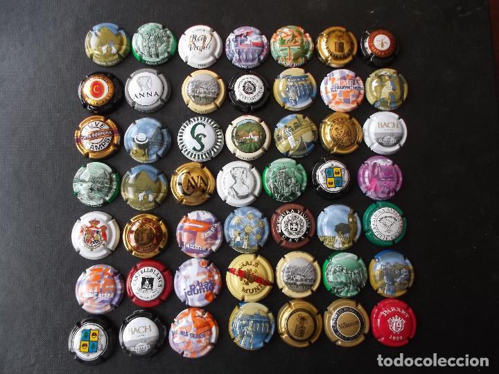 CONJUNTO DE 49 CHAPAS DE CAVA DIVERSAS EPOCAS Y VARIEDAD DE MARCAS VER FOTOS LOTE 3 (Coleccionismo - Botellas y Bebidas - Cava)