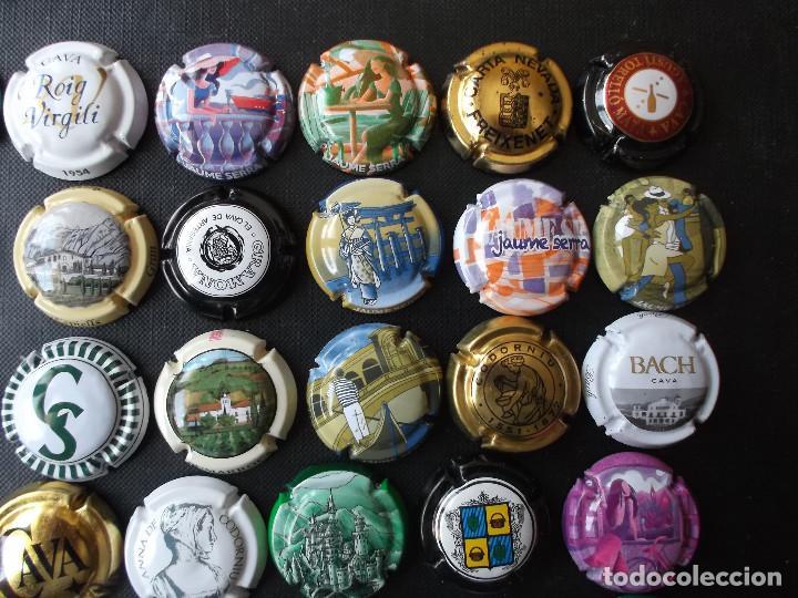 Coleccionismo de cava: conjunto de 49 chapas de cava diversas epocas y variedad de marcas ver fotos lote 3 - Foto 3 - 167112552