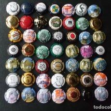 Coleccionismo de cava: CONJUNTO DE 49 CHAPAS DE CAVA DIVERSAS EPOCAS Y VARIEDAD DE MARCAS VER FOTOS LOTE 4. Lote 167176060