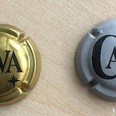 Coleccionismo de cava: 2 CHAPAS CAVA (DORADA Y GRIS). Lote 167858836