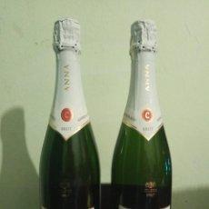 Coleccionismo de cava: PAREJA DE BOTELLAS ANNA DE CODORNIU TAPON SIN ABRIR PRECINTO CAVA ALCOHOL LICORES FIESTA NAVIDAD 75 . Lote 168239296