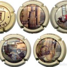 Coleccionismo de cava: LOTE 5 CHAPAS / PLACAS DE CAVA MAGUST. Lote 170860155