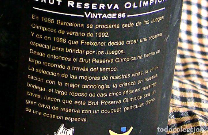 Coleccionismo de cava: Freixenet, Brut Reserva Olímpica, 1986 - Foto 8 - 171018387