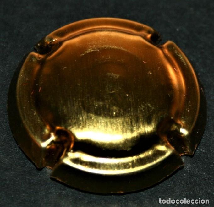 PLACA DE CAVA - SIN IDENTIFICAR - TOTALMENTE DORADA (Coleccionismo - Botellas y Bebidas - Cava)