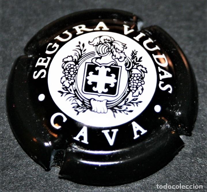 PLACA DE CAVA - SEGURA VIUDAS - CAVA - NEGRA (Coleccionismo - Botellas y Bebidas - Cava)