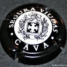 Coleccionismo de cava: PLACA DE CAVA - SEGURA VIUDAS - CAVA - NEGRA. Lote 174297852