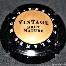 Coleccionismo de cava: PLACA DE CAVA - MONT-FERRANT - BLANES - VINTAGE BRUT NATURE. Lote 174343255