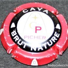 Coleccionismo de cava: PLACA DE CAVA - PICHER - CAVA BRUT NATURE. Lote 174346113