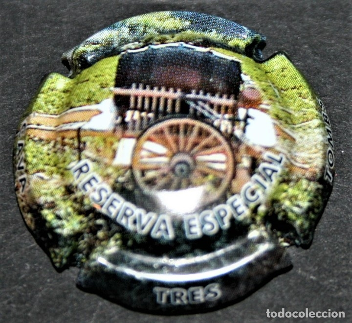 PLACA DE CAVA - TRES TOMBS - RESERVA ESPECIAL - 1960-2010 (Coleccionismo - Botellas y Bebidas - Cava)