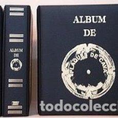Coleccionismo de cava: ALBUM INTERCANVI CON 10 HOJAS DE BURBUJAS TRANSPARENTES.. Lote 176273827