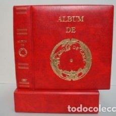Coleccionismo de cava: ALBUM BBB* PARA PLACAS CAVA LUXE CON 5 HOJAS GRAN LUXE CON SOLAPA.ROJO. CON CAJETÍN.. Lote 176641923