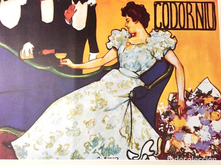 Coleccionismo de cava: lote 3 carteles cava Codorniu reproduciones 1898 años 90 con su embalaje original - Foto 2 - 182489266