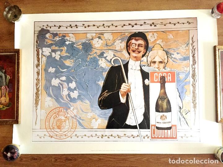 Coleccionismo de cava: lote 3 carteles cava Codorniu reproduciones 1898 años 90 con su embalaje original - Foto 4 - 182489266