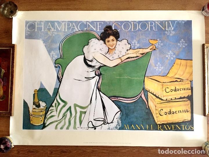 Coleccionismo de cava: lote 3 carteles cava Codorniu reproduciones 1898 años 90 con su embalaje original - Foto 8 - 182489266