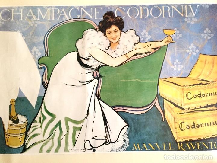 Coleccionismo de cava: lote 3 carteles cava Codorniu reproduciones 1898 años 90 con su embalaje original - Foto 9 - 182489266