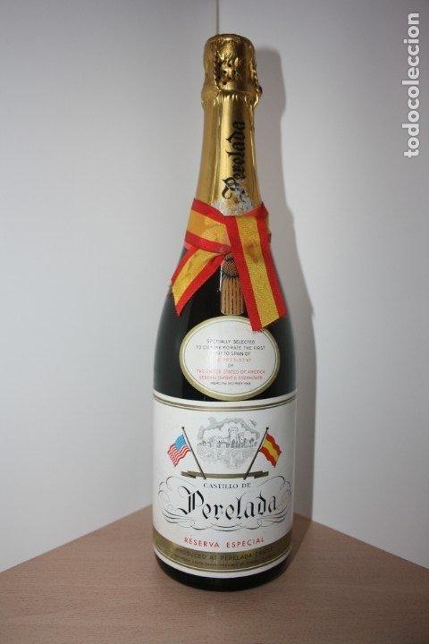 CASTILLO DE PERELADA. VISITA A ESPAÑA DEL PRESIDENTE DE LOS ESTADOS UNIDOS. GENERAL EISENHOWER 1959 (Coleccionismo - Botellas y Bebidas - Cava)