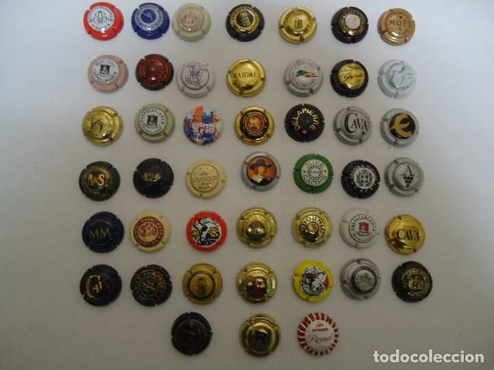 COLECCION DE 45 CHAPAS DE CAVA DIFERENTES. --- 6 (Coleccionismo - Botellas y Bebidas - Cava)