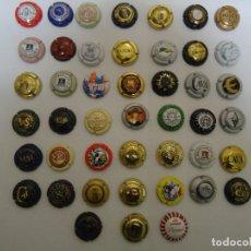 Coleccionismo de cava: COLECCION DE 45 CHAPAS DE CAVA DIFERENTES. --- 6. Lote 183324792
