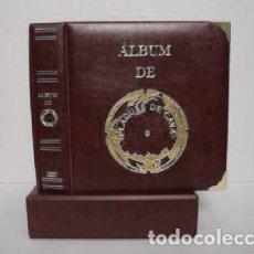 Coleccionismo de cava: ALBUM PLACAS CAVA LUXE. CON 5 HOJAS. MARRÓN OSCURO.. Lote 183405792