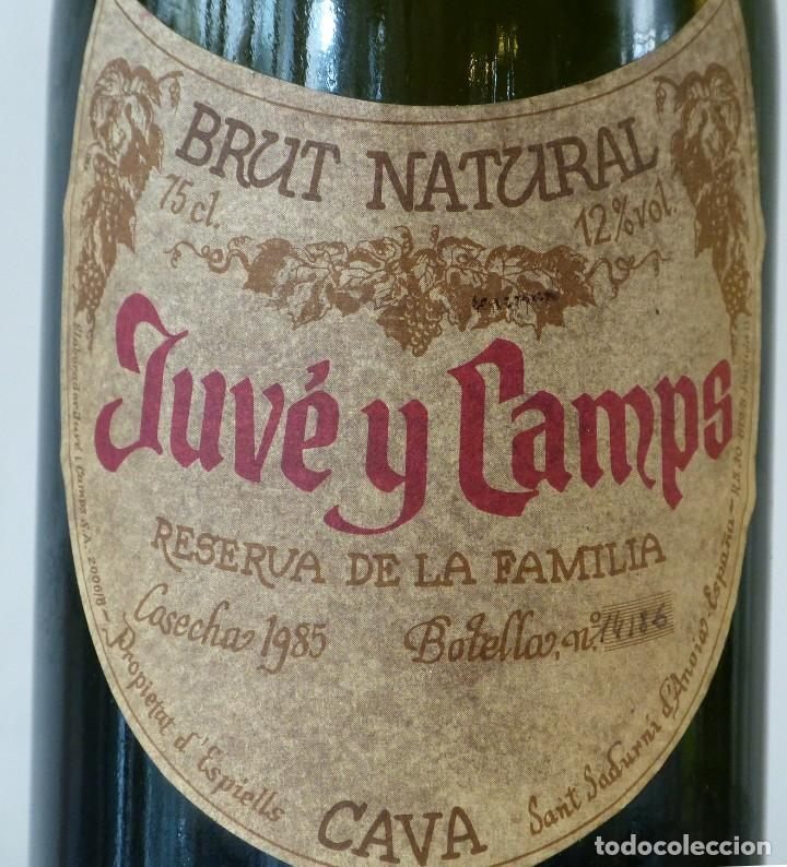 Coleccionismo de cava: pareja de botellas de Juve y Camps Reserva de la Familia 1985 - Foto 2 - 185046236