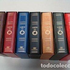 Coleccionismo de cava: ALBUM PLACAS DE CAVA LUXE CON 5 HOJAS GRAN LUXE INTERIOR FLOCADO GRANATE DE 48 DEPARTAMENTOS.GAMA DE. Lote 187187462