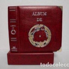 Coleccionismo de cava: ALBUM PLACAS DE CAVA LUXE.CON 5 HOJAS. GRANATE.. Lote 187199452