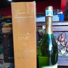 Coleccionismo de cava: BOTELLA MARC DE GRAMONA AÑOS 70 EN CAJA- GRAMONA BATLLE SA - PRECINTO EN PESETAS . Lote 187538537