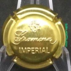 Coleccionismo de cava: PLACA DE CAVA ESTAMPADA GRAMONA IMPERIAL. Lote 189798400
