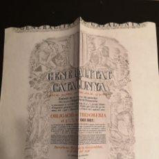 Coleccionismo de cava: G2. OBLIGACION DE CATALUNYA. 1936. Lote 194637352
