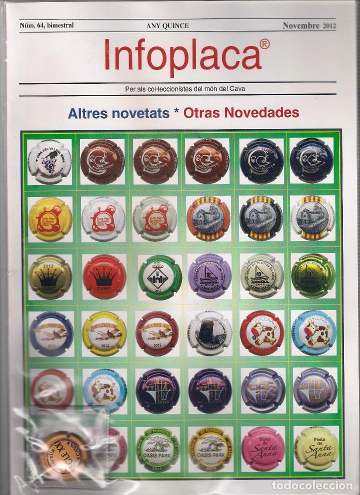 INFOPLACA NÚMERO 64 REVISTA DE PLACAS DE CAVA DE NOVIEMBRE 2012. CON PLACA DE REGALO. NUEVA . (025) (Coleccionismo - Botellas y Bebidas - Cava)