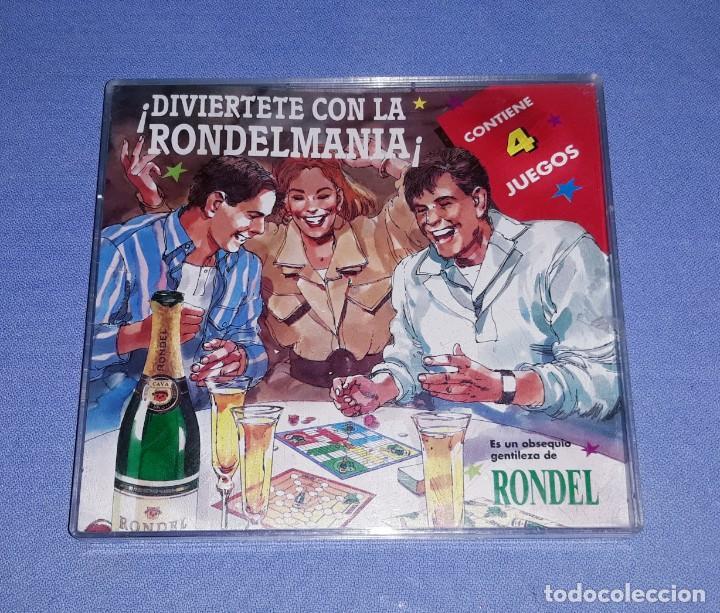 4 JUEGOS EN UN ESTUCHE OBSEQUIO PROMOCIONAL DE CAVA CHAMPAN RONDEL ORIGINAL AÑOS 80 (Coleccionismo - Botellas y Bebidas - Cava)
