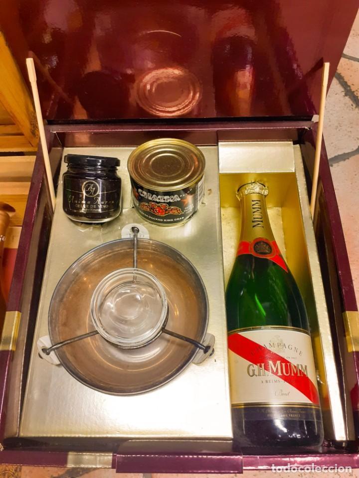 ESTUCHE ANTIGUO GH MUMM - CHAMPAGNE (Coleccionismo - Botellas y Bebidas - Cava)