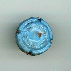 Coleccionismo de cava: PLACA ESTAMPADA CODORNIU CON CORCHO. AZUL CLARO NUM. 0165. Lote 205558251