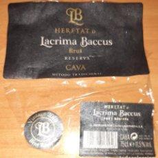 Coleccionismo de cava: ETIQUETA CAVA LACRIMA BACCUS BRUT RESERVA.. Lote 210483146