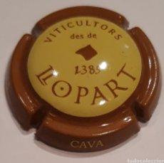 Coleccionismo de cava: PLACA DE CAVA LLOPART MARRÓN CON CENTRO AMARILLO. Lote 216476413