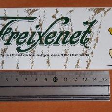 Coleccionismo de cava: PEGATINA CAVA FREIXENET BARCELONA 92 (AÑO 1988). Lote 217147706