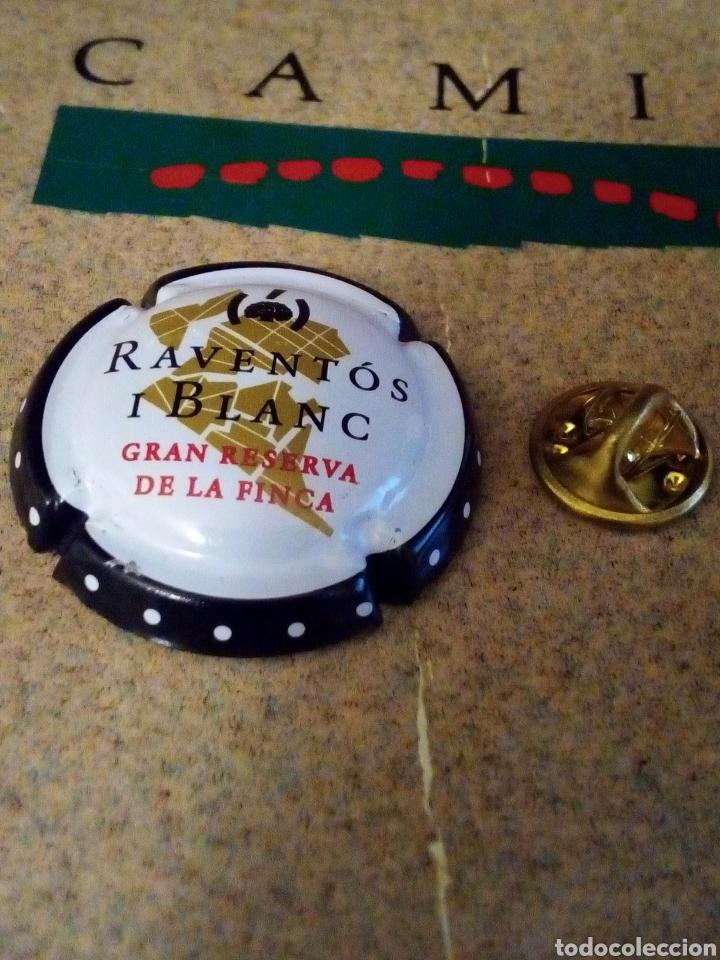 CHAPA PLACA CAVA RAVENTÓS I BLANC GRAN RESERVA DE LA FINCA (Coleccionismo - Botellas y Bebidas - Cava)