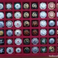Coleccionismo de cava: LOTE 48 CHAPAS DE CAVA VARIADAS INCLUYE CLASIFICADOR. ALGUNA REPETIDA. VER FOTOS. Lote 222969826