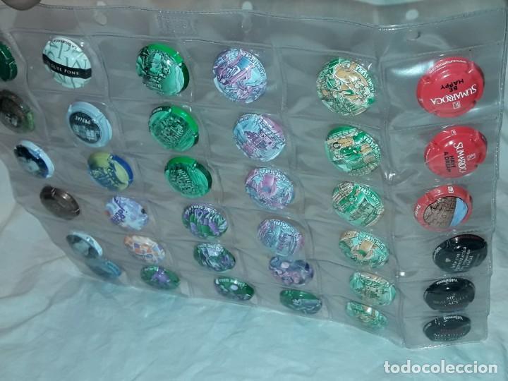 Coleccionismo de cava: Lote de 36 chapas tapón placa de cava champan variadas - Foto 5 - 225218665