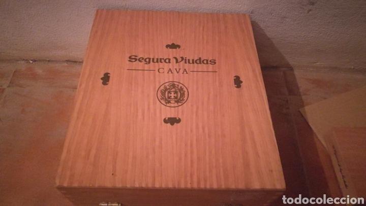Coleccionismo de cava: CAJA DE MADERA DE CAVA , SEGURA VIUDA CON TRES COPAS - Foto 3 - 233567205