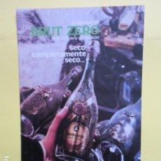 Coleccionismo de cava: PUBLICIDAD 1973 - CAVA CASTELLBLANCH BRUT ZERO. Lote 235071500