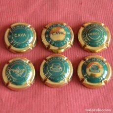 Coleccionismo de cava: RONDEL - 6 PLACAS DE CAVA - VERDE Y DORADO. Lote 236248770