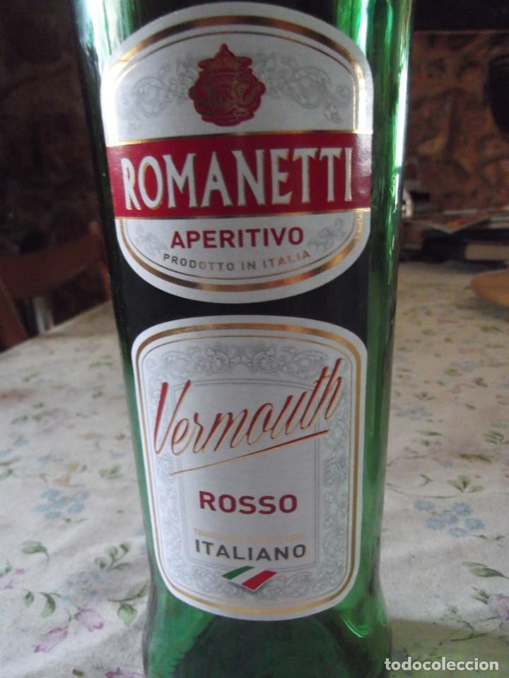 BOTELLA VERMOUTH ROSSO ROMANETTI (Coleccionismo - Botellas y Bebidas - Cava)