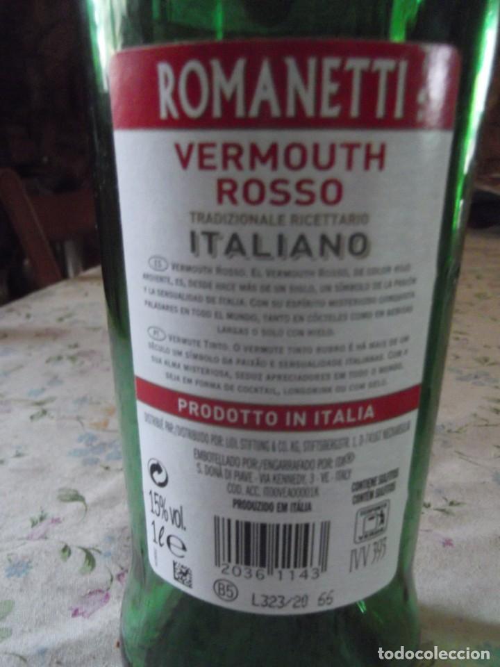 Coleccionismo de cava: Botella vermouth Rosso Romanetti - Foto 3 - 242162080
