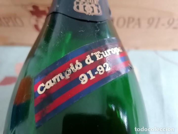 Coleccionismo de cava: BOTELLA CAVA BARÇA CONMEMORATIVA. 1991 - 1992 (VER DESCRIPCION Y FOTOS ) - Foto 2 - 242227510