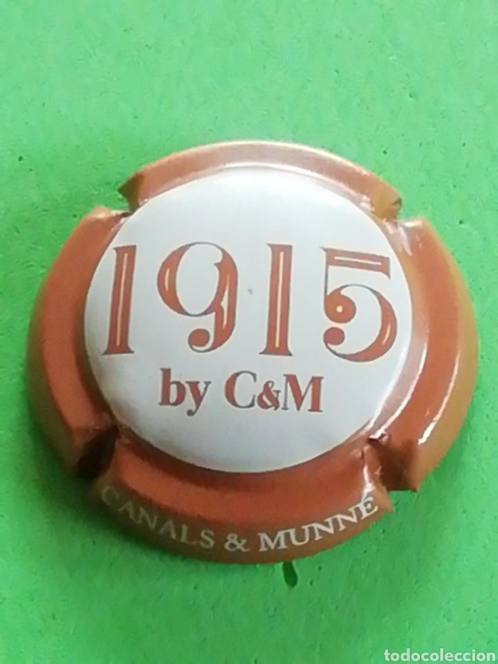 CHAPA CAVA CANALS Y MUNNE 1915.. FECHA FUNDADA LA CAVA. (Coleccionismo - Botellas y Bebidas - Cava)
